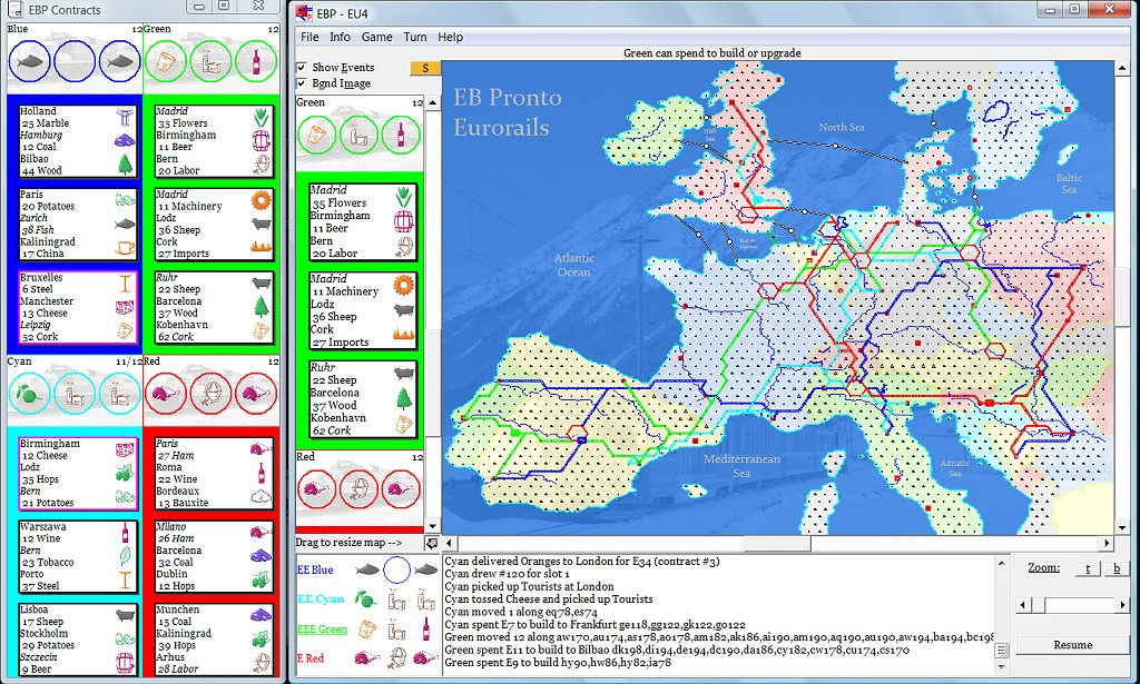 Eb pronto alternate maps note that chunnel construction is handled slightly differently than in the board game get this map at a discount as part of the express or superexpress gumiabroncs Gallery