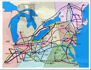 Rail Baron Us Northeast Board Game